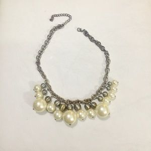 Jewelry - Vintage Pearl Chain Link Necklace
